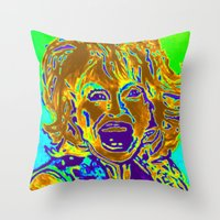 "dolly parton Throw Pillows featuring ""Dolly Halfway II"" by Eat, Paint, Love. Pattiann Withapea"
