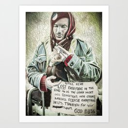 Protestor From Occupy Wall Street  Art Print