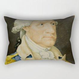 Vintage George Washington Portrait Painting (1800) Rectangular Pillow