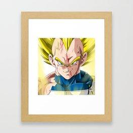 Vegeta super Saiyan Framed Art Print