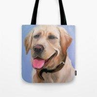 labrador Tote Bags featuring Labrador by OLHADARCHUK