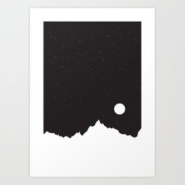 Mountain Sky Night Art Print