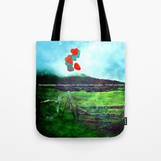 there is a field... I'll meet you there. Tote Bag