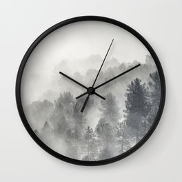 Yesterday.... Into the foogy woods Wall Clock