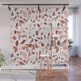 Terrazzo pattern - Earthy tones Wall Mural