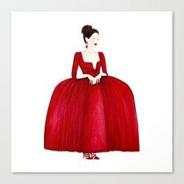 Outlander Claire Fraser Red Dress Not Obedient Quote Watercolor Canvas Print