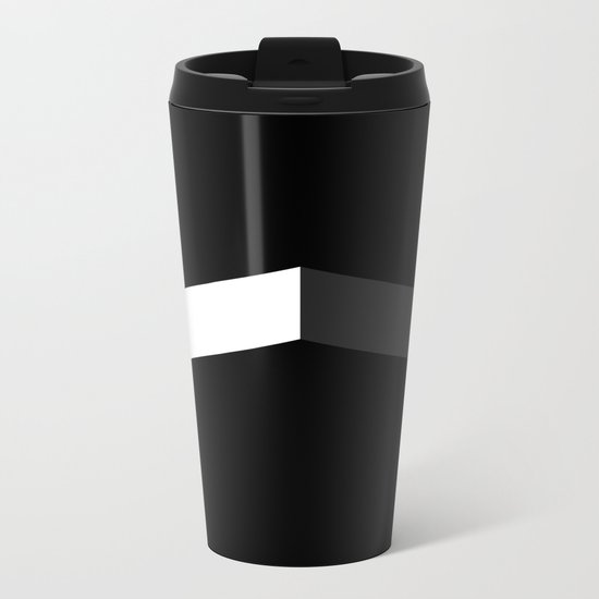 BASIC CHEVRON Metal Travel Mug