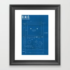 B.M.O. Entertainment Artificial Intelligence (Front) Framed Art Print