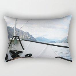 Boat on Lake Garda Rectangular Pillow