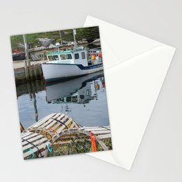 Fishing Boat in Peggy's Cove, Nova Scotia Stationery Cards