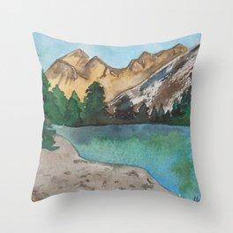 Great Basin- Nevada- National Park- Watercolor Illustration Throw Pillow
