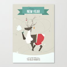 Happy New Year - A New Start to Old Habbits Canvas Print