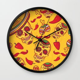 Sugar Skull Party Wall Clock