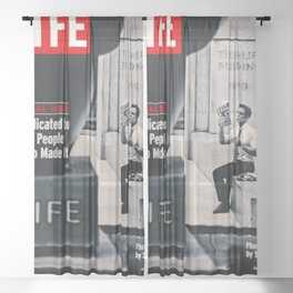 Walter Mitty LIFE Cover Sheer Curtain