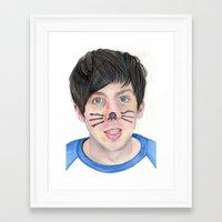 phil jones Framed Art Prints featuring Phil by Beth Mellett