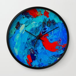 Colour-Glass Wall Clock