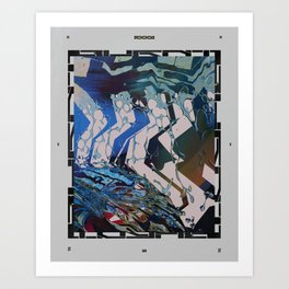 Burnt. Art Print