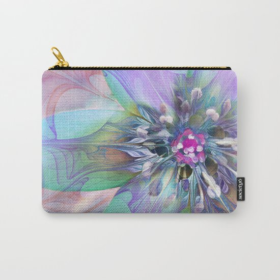 Fractal in Flower Carry-All Pouch