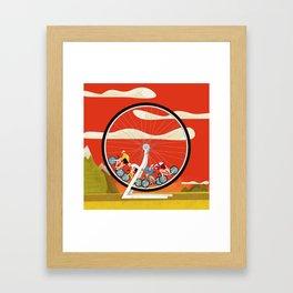 Road Cycling Race Hamster Wheel Challenge Framed Art Print