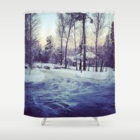 neverland Shower Curtains featuring Neverland by Out of Line