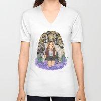 kris tate V-neck T-shirts featuring Malia Tate by strangehats
