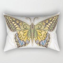 Antique Butterfly Rectangular Pillow