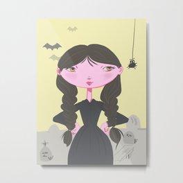 Wednesday Addams Metal Print