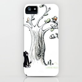 Little Cat and birdy iPhone Case