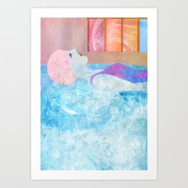 Swimming pool, dream world Art Print