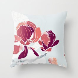 spring 3 blossoms Throw Pillow