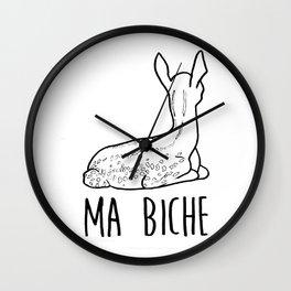 Ma biche Wall Clock