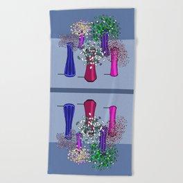 Cascade Flowers Beach Towel