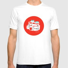 Spectators White Mens Fitted Tee MEDIUM