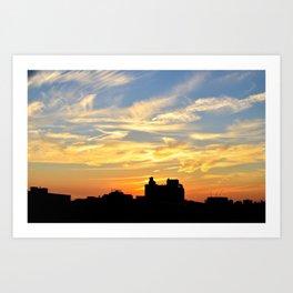 Sky Line  Art Print