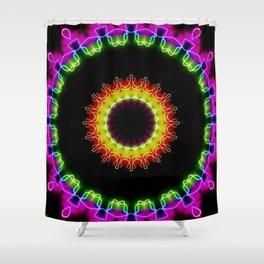 Neon Ice Shower Curtain
