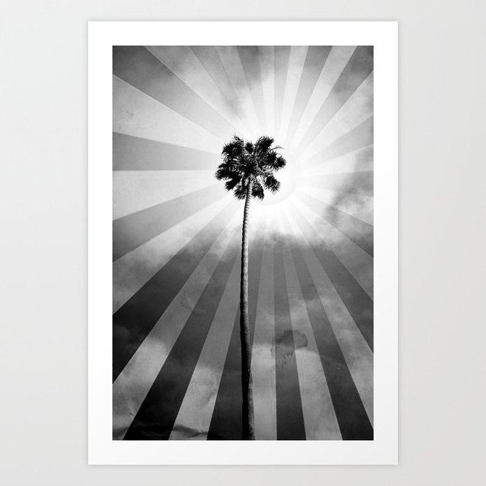 Palm Tree Retro Art Print