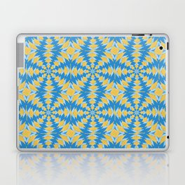 Blue And Gold Spinning X Design Laptop & iPad Skin