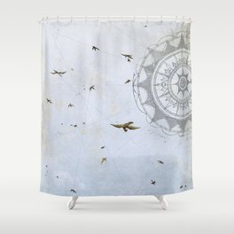 Losing Direction Shower Curtain