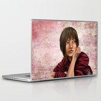 chihiro Laptop & iPad Skins featuring Chihiro from Spirited Away 2 by Kimberly Castello