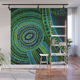 turquoise circus Wall Mural