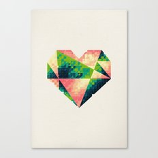 A heart is made of bits and pieces II Canvas Print