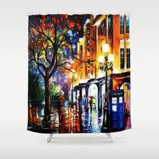 The Light Tardis Shower Curtain