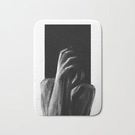 out of sight, out of mind Bath Mat