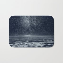 Stars and Milky Way over the Atlantic Ocean Bath Mat
