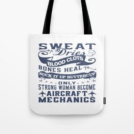 Aircraft Mechanic Woman Tote Bag