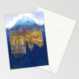 City Under Water - Blue Ocean Theme No. 1 Stationery Cards