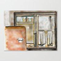 bathroom Canvas Prints featuring Bathroom by smognus