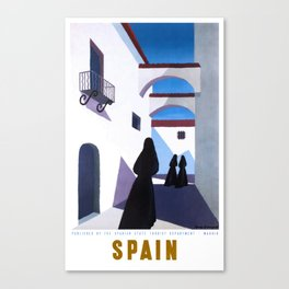 1950 Spain Guy Georget Travel Poster Canvas Print