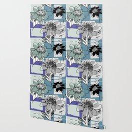 flowerpatch blue Wallpaper
