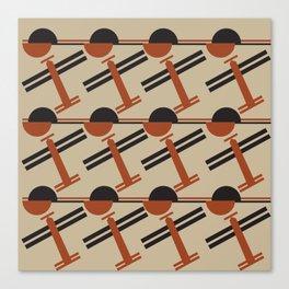 soviet pattern - constructivism Canvas Print